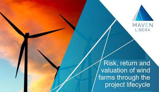 Risk, return and valuation of wind farms through the project lifecycle
